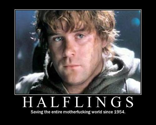 Halflings motivational poster