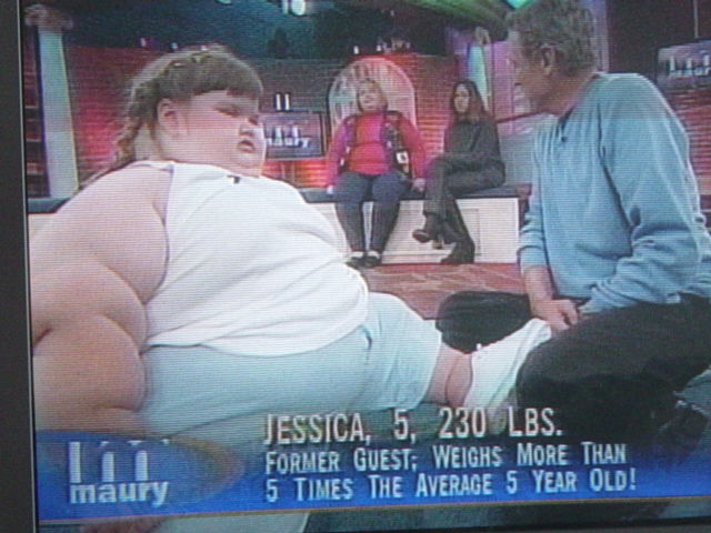 jessica maury - 5 years old, 230 lbs