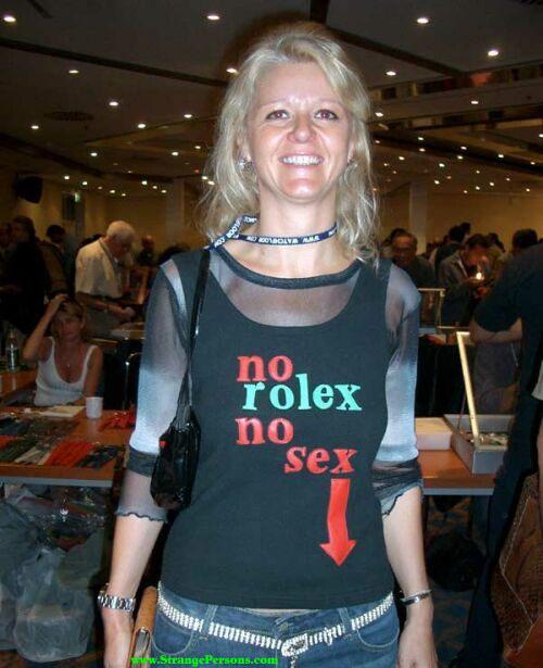 No Rolex, no sex
