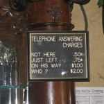 Telephone answering charges