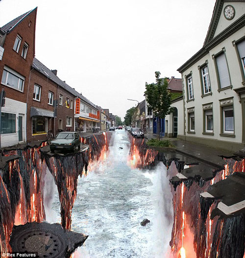awesome street drawing