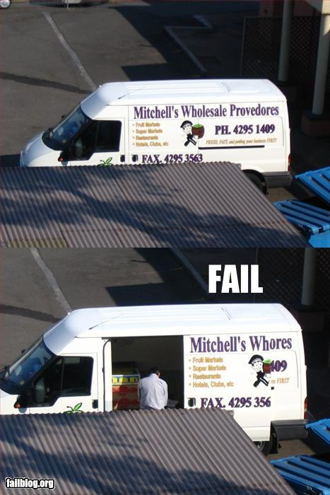 Wholedale van fail