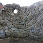 Spiral stone wall