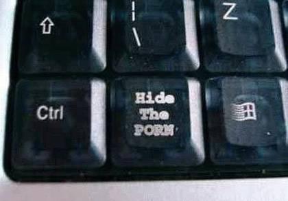 Hide the Porn Keyboard