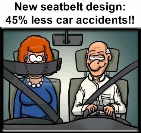 Best seatbelt - 45% less car accidents