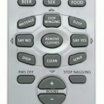 Man and woman remote controls