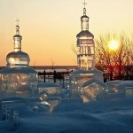 Amazing ice church sculpture