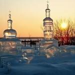 Amazing ice church sculpture
