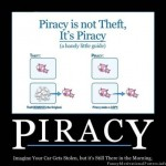 Piracy motivational poster