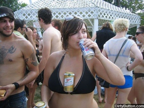 Boobs beer holder