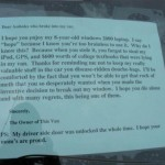 Letter to stupid thief