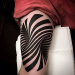 Awesome optical illusion tattoo