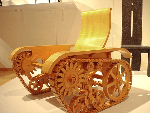 Wooden tank chair