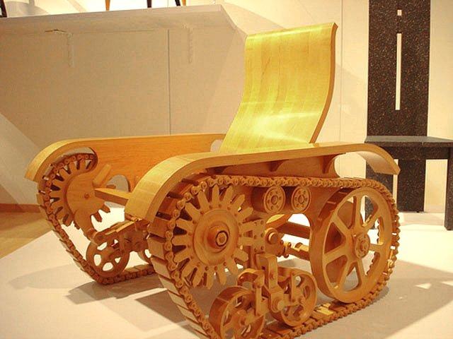 Wooden tank chair