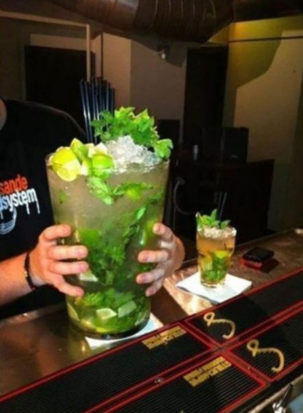 Biggest mojito ever
