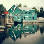 Awesome upside-down house painting