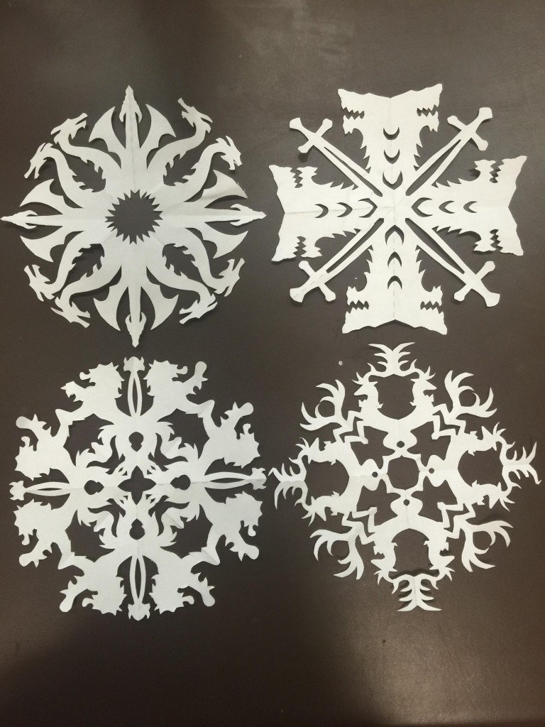 Game of snowflakes