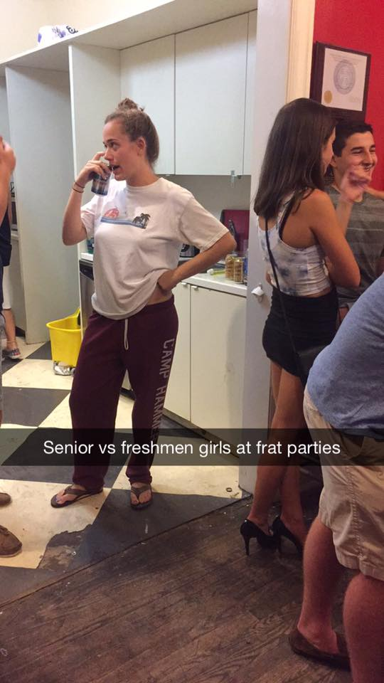 Senior VS Freshmen Girls at Frat Parties